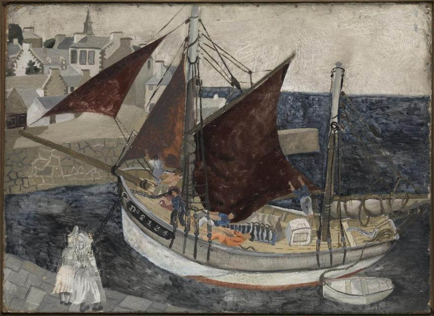 Boat in Harbour, Brittany 1929 Christopher Wood 1901-1930 Presented by Mrs Lucy Carrington Wertheim 1962 http://www.tate.org.uk/art/work/T00489